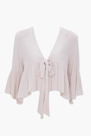 Tie-Front Flounce Top | Forever 21