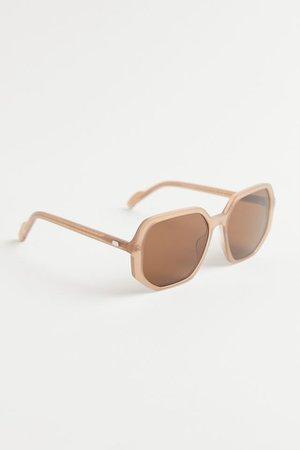 Spitfire Cut Sixteen Hexagon Sunglasses   Urban Outfitters