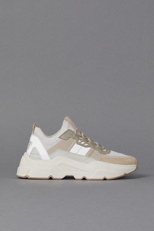 Chunky trainers - White/Light beige - Ladies | H&M GB