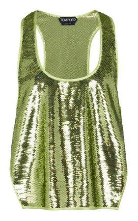 Side-Slit Sequined Tank Top By Tom Ford | Moda Operandi