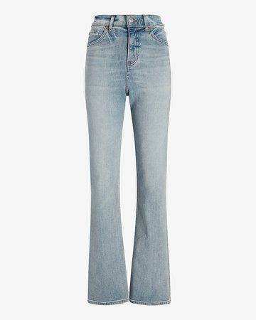 High Waisted Light Wash 90s Bootcut Jeans   Express