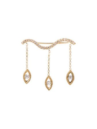 Kimai 18Kt Yellow Gold Diamond Felicity Drop Single Earring FELICITYLEFT | Farfetch