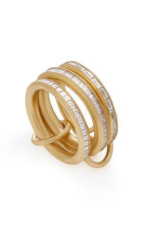 Manava Set-Of-Three 18K Gold Diamond Rings by Spinelli Kilcollin | Moda Operandi