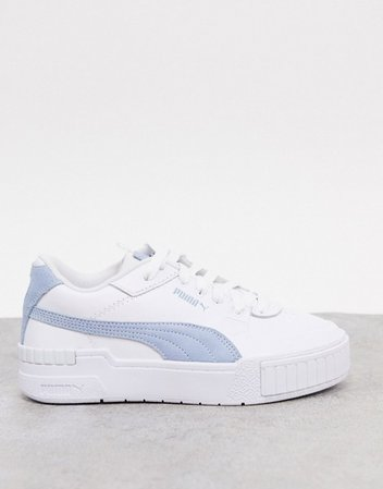 Puma Cali Sport sneakers in white and blue | ASOS