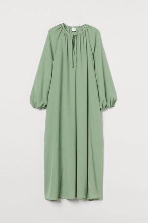 Calf-length Dress - Green