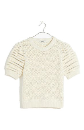 Madewell Atwater Crochet T-Shirt | Nordstrom