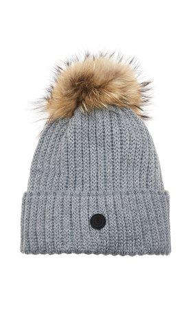 Bogner Rania Pompom-Embellished Wool-Blend Beanie Size: M