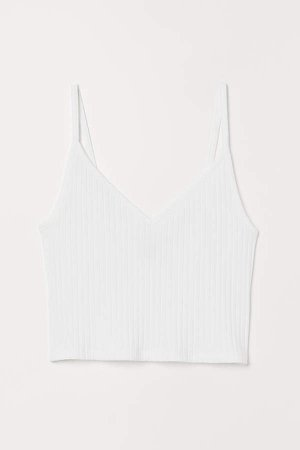 Short Jersey Camisole Top - White