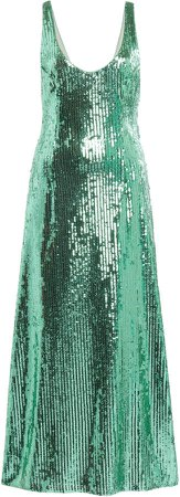 Galvan Valletta Sequined-Jersey Midi Dress