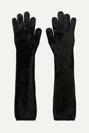 Alaïa | Stretch-velvet gloves | NET-A-PORTER.COM