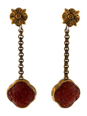 Stephen Dweck Carnelian Drop Earrings - Earrings - STD23836 | The RealReal
