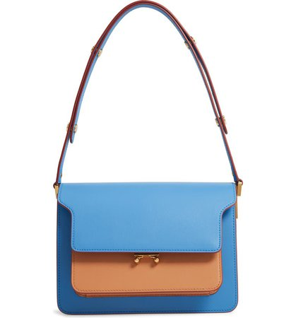 Marni Medium Trunk Colorblock Leather Shoulder Bag | Nordstrom