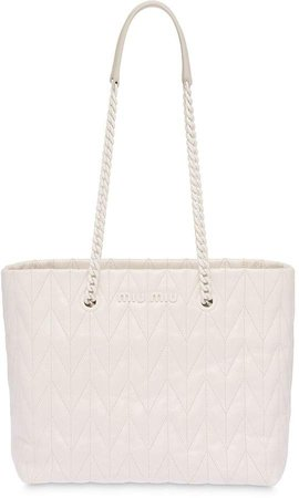 Matelasse quilted tote bag