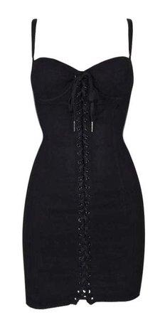 2003 Dolce & Gabbana Black Silk Blend Corset Pin-Up Micro Mini Dress