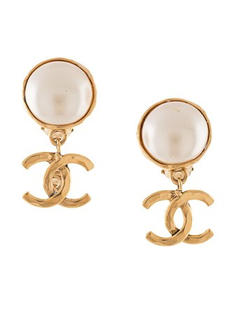Chanel Pre-Owned Dangling Cc Earrings Vintage | Farfetch.com