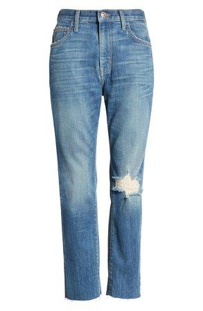 Current/Elliott The Vintage High Waist Crop Slim Jeans (Love Destroy) | Nordstrom
