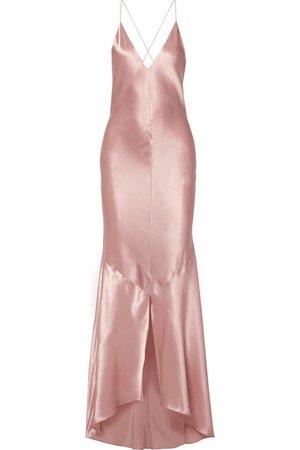 Michael Lo Sordo | Asymmetric silk-satin maxi dress | NET-A-PORTER.COM
