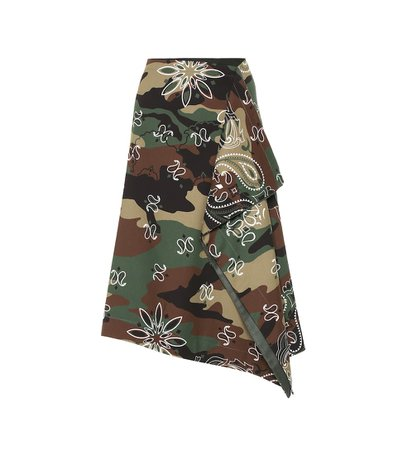 Monse - Camouflage stretch-cotton midi skirt | Mytheresa