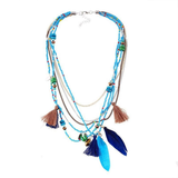 Ahead Beaded Necklace