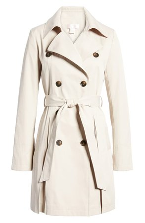 Rachel Parcell Pleated Trench Coat (Nordstrom Exclusive) | Nordstrom