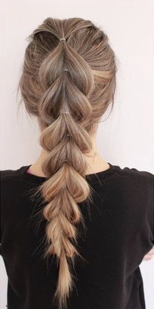 French Braid Ponytail