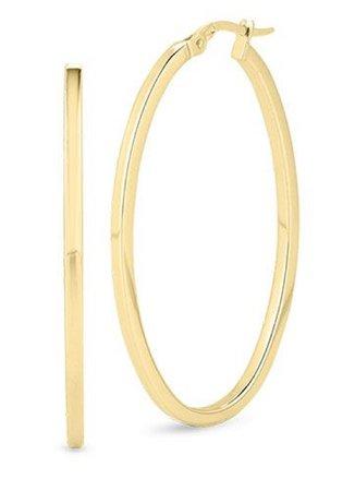 gold hoops Roberto Coin