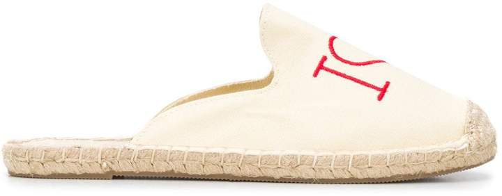 Embroidered Slip-On Espadrilles