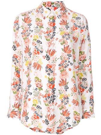 Equipment Floral Stripe Shirt - Farfetch