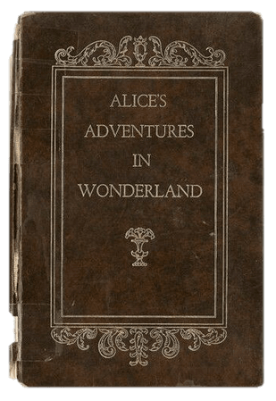 alice in wonderland brown book