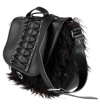 fur messenger bag