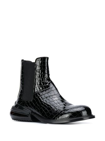 Maison Margiela crocodile-effect Leather Boots - Farfetch