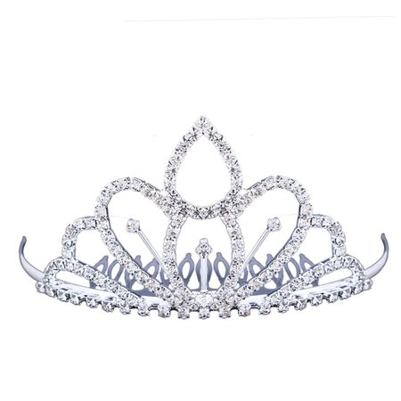 FUMUD Flower Girls White Tiara Small Crown Hair Combs Children/Women rhinestone crown shaped hair combs for Wedding by FUMUD Jewelry: Amazon.ca: Beauty