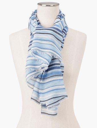 Shimmer Stripe Oblong Scarf | Talbots