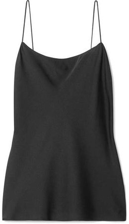 Teah Stretch-silk Camisole - Black