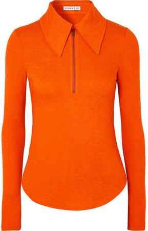 Kyoko Tencel-blend Top - Orange