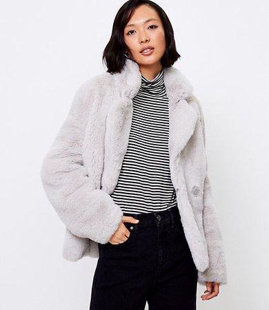 Petite Short Faux Fur Coat
