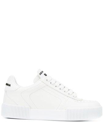 White Dolce & Gabbana Miami Sneakers | Farfetch.com