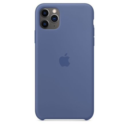 iPhone 11 Pro Max Silicone Case - Linen Blue - Apple