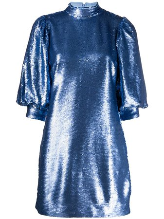 Ganni sequin mini dress