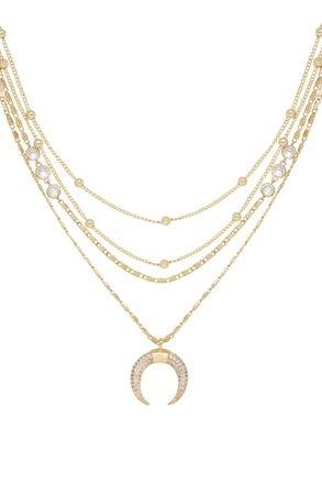 Ettika Crescent Horn Multistrand Pendant Necklace | Nordstrom