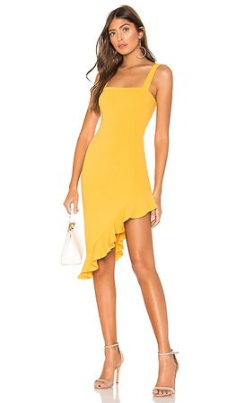 Privacy Please Giselle Midi Dress in Yellow | REVOLVE