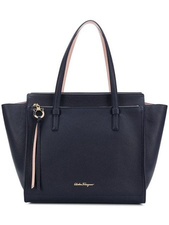 Salvatore Ferragamo Amy Winged Tote (Navy)