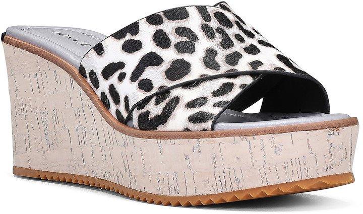 Ideal Genuine Calf Hair Platform Wedge Sandal