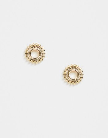 Pieces small circle stud earrings | ASOS