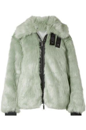 Nike   + AMBUSH NRG reversible appliquéd faux fur and shell jacket   NET-A-PORTER.COM