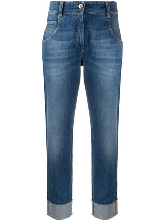 Brunello Cucinelli turn-up Cuff Straight Leg Jeans - Farfetch