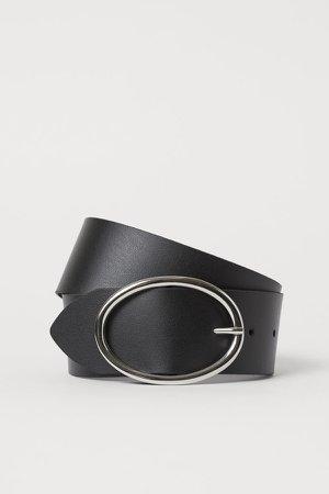 Wide Waist Belt - Black
