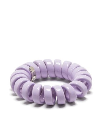 Shop purple Bottega Veneta coiled ring with Express Delivery - Farfetch