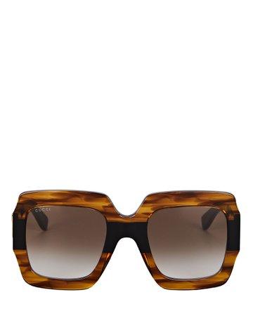 Gucci Oversized Square Sunglasses | INTERMIX®