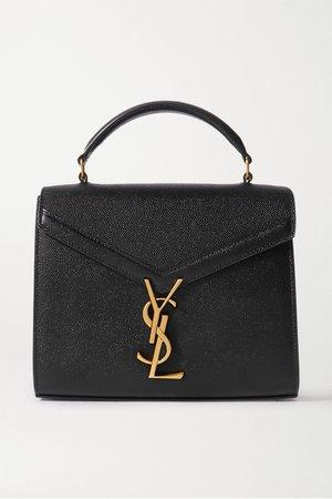 Black Cassandra mini textured-leather tote | SAINT LAURENT | NET-A-PORTER